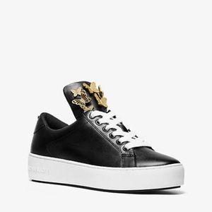 NWOT Mindy Butterfly Appliqué Leather Sneaker